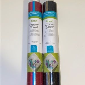 2 rolls of Cricut 3D Textured Vinyl - 9 sheets